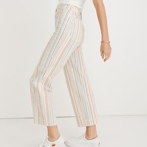 Madewell NWT Slim Emmett Wide-Leg Crop Pants - 25